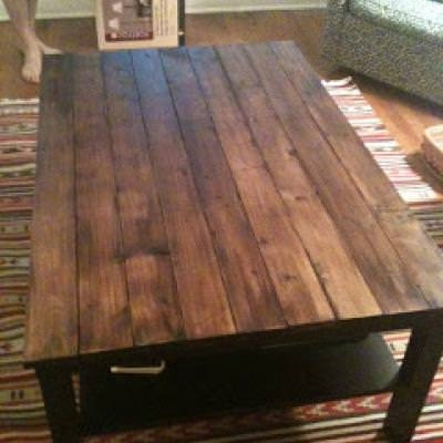 Awesome Best Rustic Wood DIY Coffee Tables Inside Rustic Wood Coffee Table Diy Coffee Side Tables Tip Junkie (Image 6 of 50)