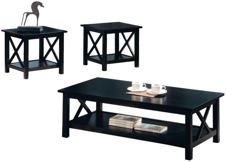 Awesome Best Small Coffee Tables With Shelf With Best 25 Black Coffee Table Sets Ideas On Pinterest Diy Living (Image 4 of 40)
