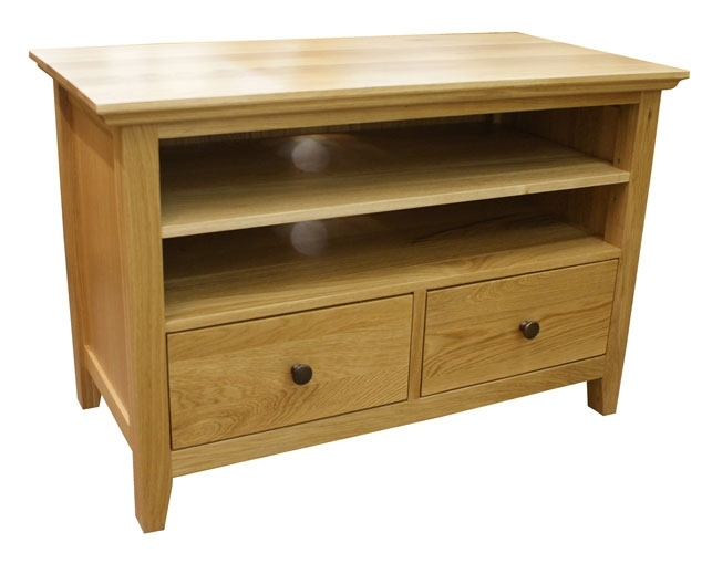 Awesome Best Small Oak TV Cabinets In Artisan Rustic Oak Small Tv Cabinet Hampshire Furniture (View 5 of 50)