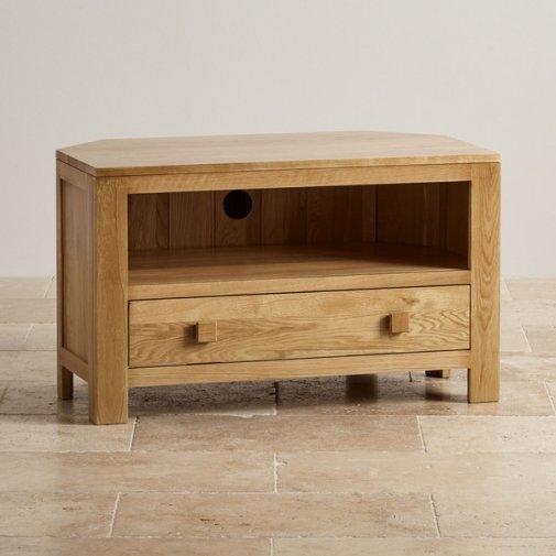Awesome Best TV Cabinets Corner Units For Oakdale Corner Tv Cabinet In Solid Oak Oak Furniture Land (Image 2 of 50)