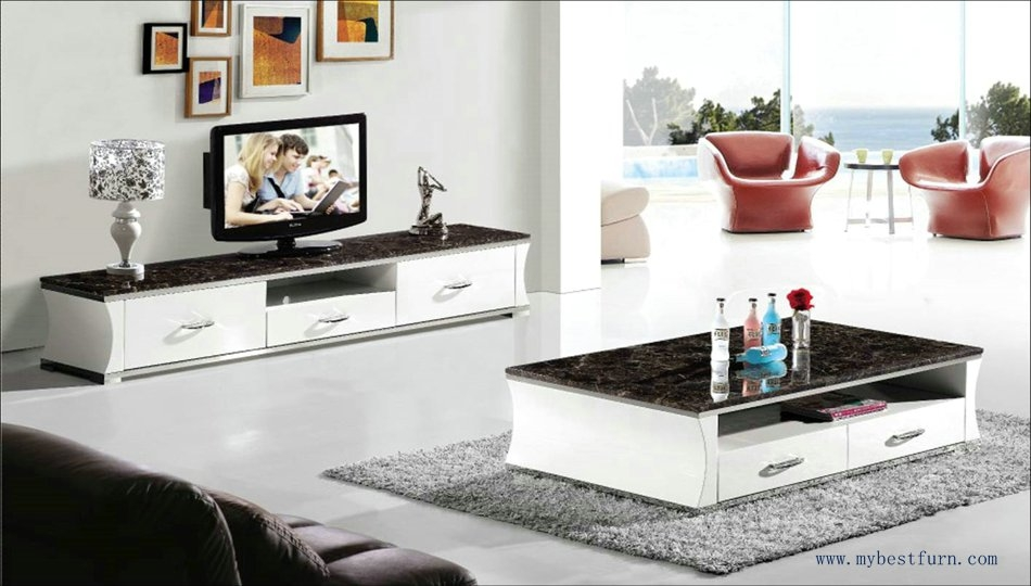 Awesome Best Tv Stand Coffee Table Sets Intended For Marble Table Set White Wood And Peacock Green Coffee Table Tv S (Image 7 of 50)