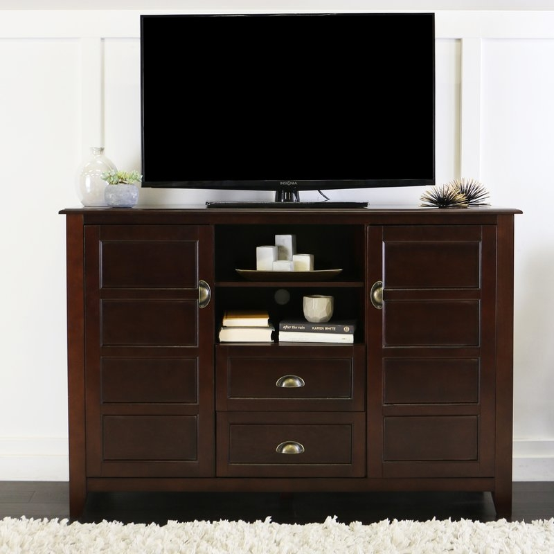 Awesome Best Very Tall TV Stands For Espresso Tv Stands Youll Love Wayfair (Image 5 of 50)