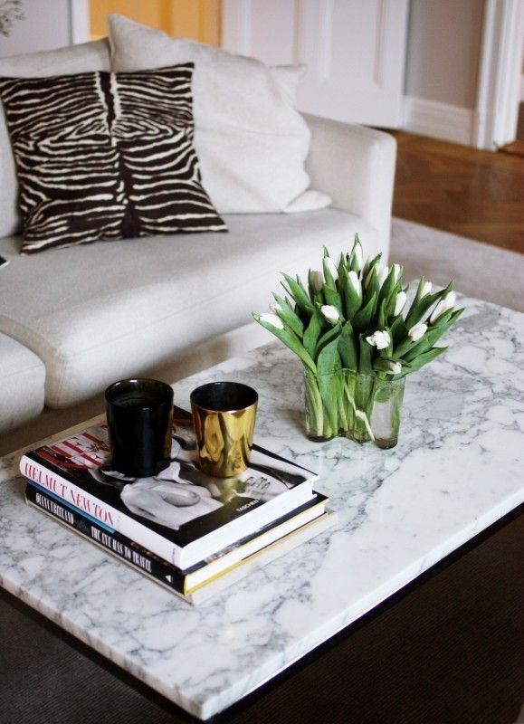 Awesome Best White Marble Coffee Tables With Best 25 Marble Top Coffee Table Ideas On Pinterest Marble (View 33 of 50)