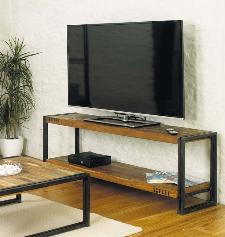Awesome Brand New Cast Iron TV Stands Regarding Best 20 Industrial Tv Stand Ideas On Pinterest Industrial Media (Image 7 of 50)