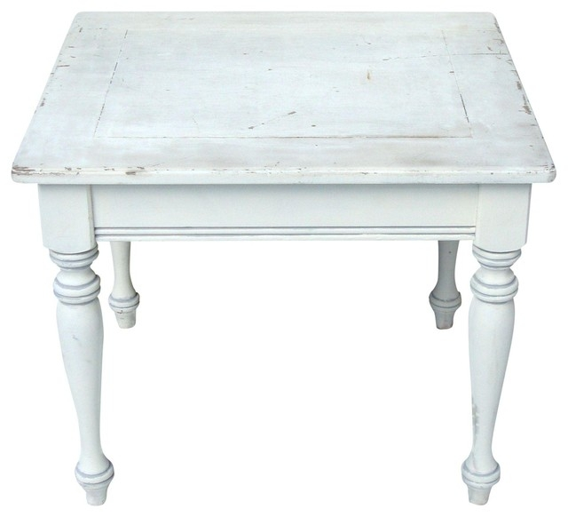 Awesome Brand New French White Coffee Tables For Consigned Vintage French Country Farmhouse Distressed Wood Table (Image 9 of 50)