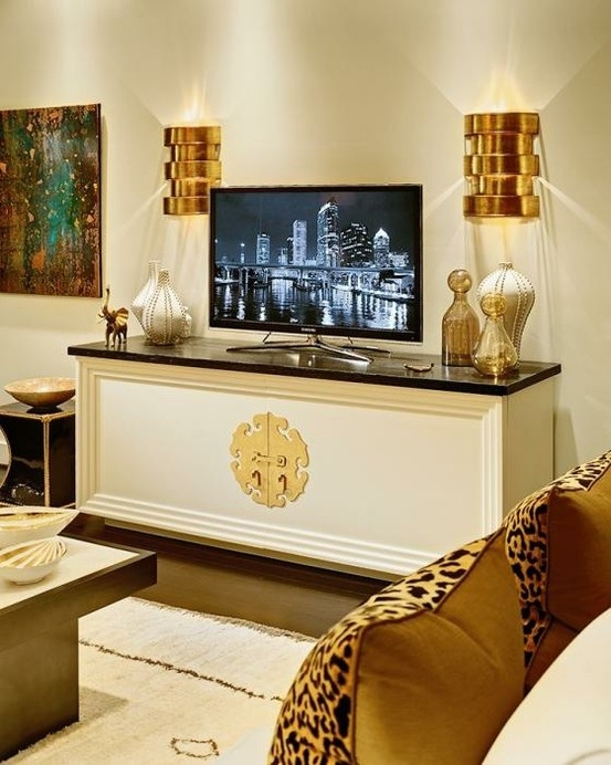 Awesome Brand New Gold TV Cabinets Regarding 141 Best Tv Wall Images On Pinterest Tv Walls Live And Dining Room (Image 7 of 50)