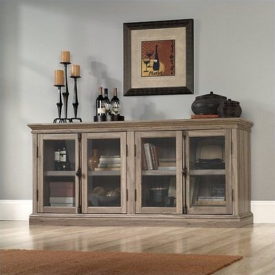 Awesome Brand New Lane TV Stands For Sauder Barrister Lane Storage Credenza Salt Oak Tv Stand Whats (View 40 of 50)