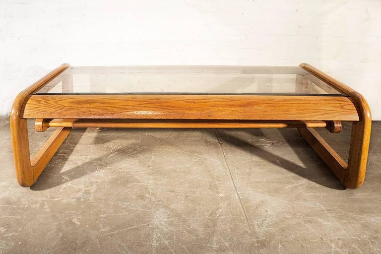 Awesome Brand New Oak And Glass Coffee Tables In Mid Century Oak And Glass Coffee Table Lou Hodges For Sale At (Image 4 of 50)