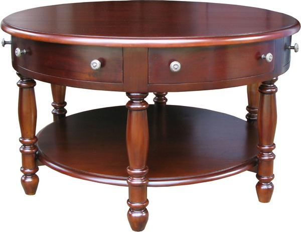 Awesome Brand New Round Coffee Tables With Drawers Intended For Round Coffee Table With Drawer Timconverse (Image 6 of 50)