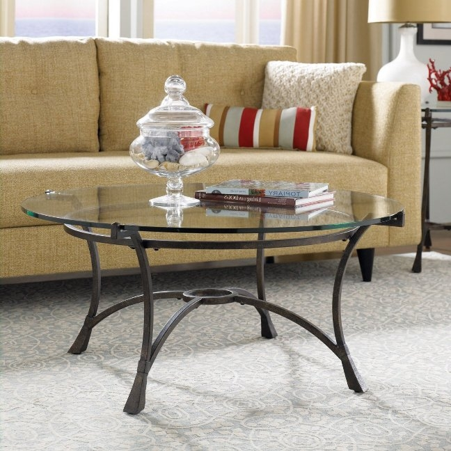Awesome Brand New Round Steel Coffee Tables Regarding Best Glass Top Coffee Table With Metal Base Design (Image 6 of 50)