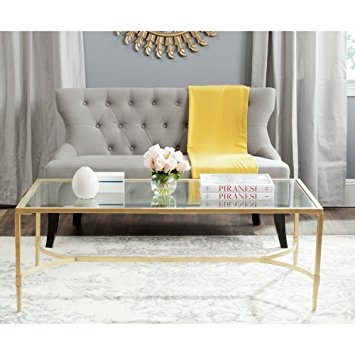 Awesome Brand New Safavieh Coffee Tables In Amazon Safavieh Home Collection Antwan Gold Coffee Table (Image 7 of 50)