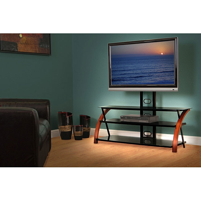 Awesome Brand New Swivel Black Glass TV Stands Within Tv Stands 2017 Stylish Tv Stand With Swivel Mount For Flat Panel (Image 4 of 50)