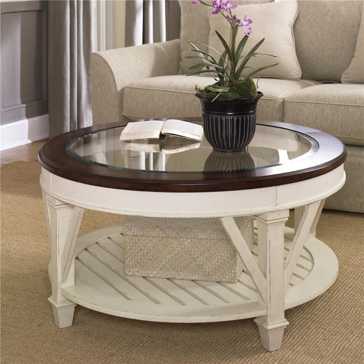 Awesome Brand New White And Glass Coffee Tables Regarding Best 25 Round Coffee Table Ikea Ideas On Pinterest Ikea Glass (Image 3 of 40)
