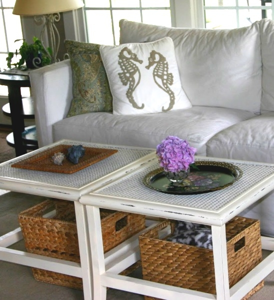 Awesome Brand New White Coffee Tables With Baskets Inside Inspiring Designs Of Coffee Table With Baskets Homesfeed (Image 7 of 40)