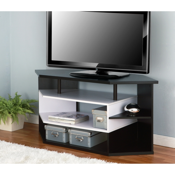 Awesome Brand New White Wood Corner TV Stands Pertaining To Tv Stands Brandnew Tv Stands For 55 Inch Flat Screens Collection (Image 6 of 50)