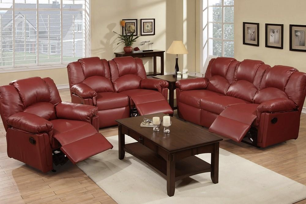 Awesome Burgundy Leather Sofa With Pertaining To Burgundy Leather Sofa Sets (Image 3 of 20)
