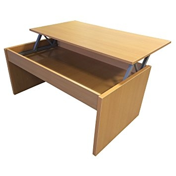 Awesome Common Beech Coffee Tables Regarding Redstone Beech Coffee Table Lift Top With Storage Amazoncouk (Image 6 of 50)