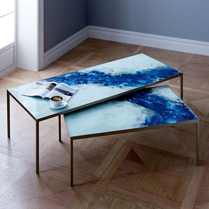 Awesome Common Blue Coffee Tables With Regard To Cosmos Coffee Tables West Elm (Image 8 of 50)