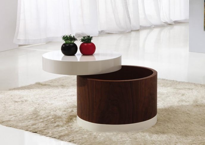 Awesome Common Circular Coffee Tables With Storage Pertaining To Small Round Coffee Tables (Image 2 of 50)