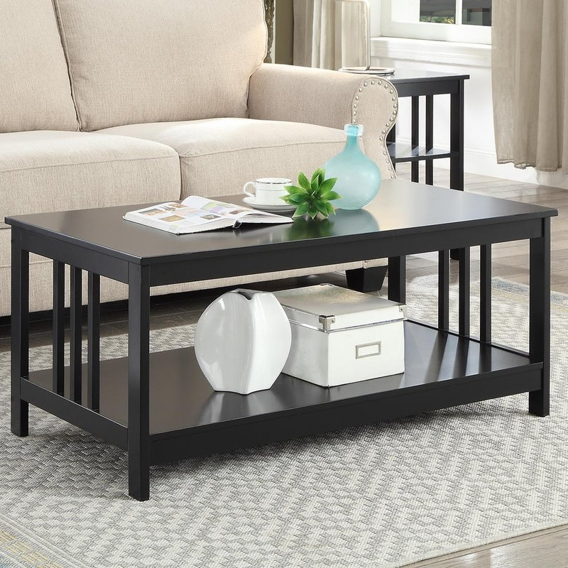 Awesome Common Coffee Tables With Magazine Rack Intended For Ebern Designs Cade Coffee Table With Magazine Rack Reviews Wayfair (Image 5 of 50)