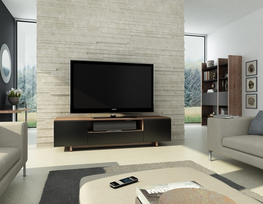Awesome Common Contemporary TV Cabinets For Flat Screens Intended For Bdi Nora 8239 Home Theater Tv Cabinet Natural Walnut (Image 9 of 50)