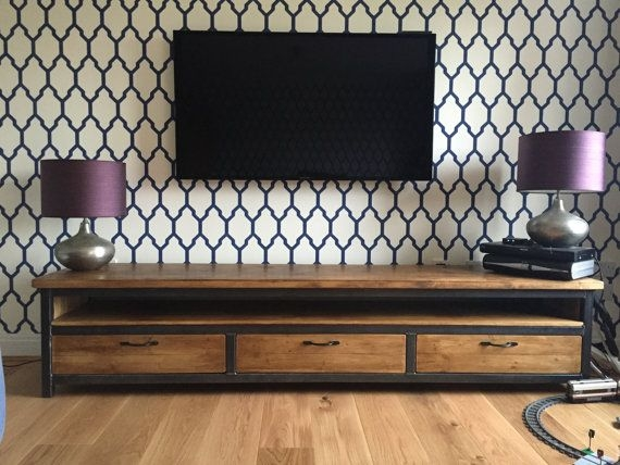 Awesome Common Industrial Style TV Stands Inside Best 20 Industrial Tv Stand Ideas On Pinterest Industrial Media (View 8 of 50)