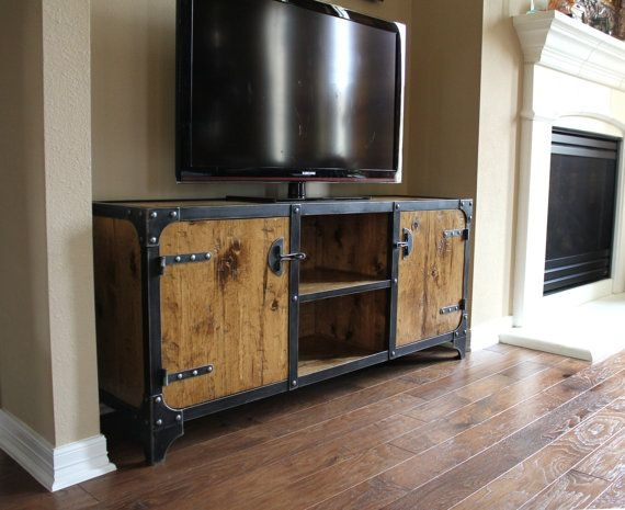 Awesome Common Industrial Style TV Stands Intended For Best 20 Industrial Media Cabinets Ideas On Pinterest Industrial (Image 9 of 50)