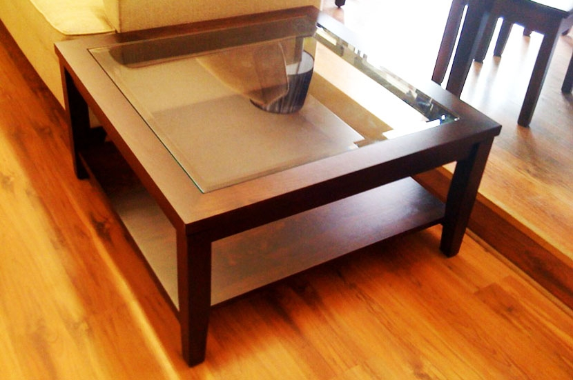 Awesome Common Large Square Wood Coffee Tables For Square Wood And Glass Coffee Table (Image 8 of 50)