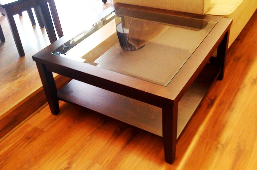 Awesome Common Large Square Wood Coffee Tables Regarding Square Wood And Glass Coffee Table (Image 9 of 50)