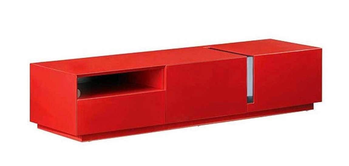 Awesome Common Long TV Stands Furniture Within T027 Contemporary Long Tv Stand In Red Gloss Finish (Image 5 of 50)