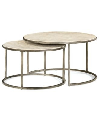 Awesome Common Nest Coffee Tables Pertaining To Monterey Coffee Table Round Nesting Furniture Macys (View 9 of 50)