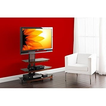 Awesome Common Red TV Stands Regarding Amazon Whalen 3 Tier Cherry Brown Flat Panel Tv Stand For (Image 3 of 50)