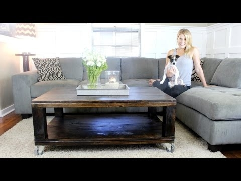Awesome Common Rustic Coffee Tables With Bottom Shelf With The Rustic Coffee Table Diy Project Youtube (Image 10 of 50)