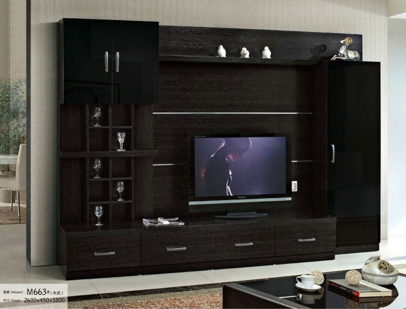 Awesome Common TV Cabinets And Wall Units Inside Wooden Wall Tv Cabinet Wooden Wall Tv Cabinet Suppliers And (Image 6 of 50)