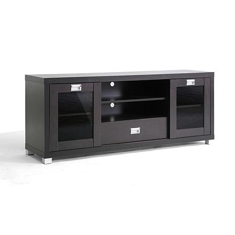 Awesome Common White Modern TV Stands Intended For Matlock Modern Tv Stand With Glass Doors 6594630 Hsn (Image 4 of 50)