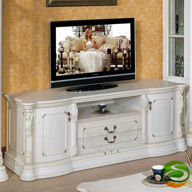 Awesome Common White Wood TV Cabinets With Regard To Aliexpress Buy White Tv Cabinet Solid Wood Tv Cabinet From (Image 5 of 50)