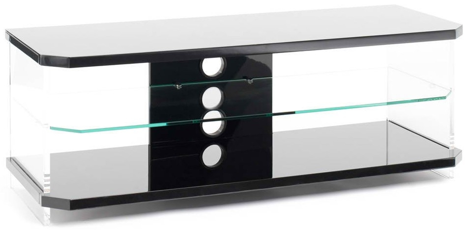Awesome Deluxe Clear Acrylic TV Stands Inside Techlink Air Acrylic And Glass Tv Stand Live Well Stores (Image 7 of 50)