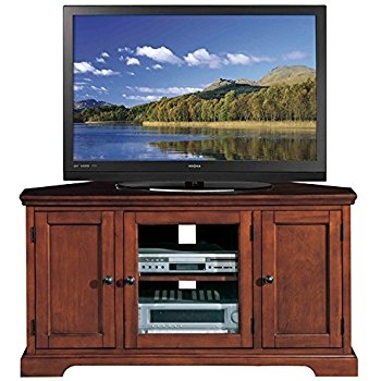 Awesome Deluxe Corner TV Stands For 60 Inch TV With Regard To Amazon Leick Riley Holliday Westwood Tv Stand 50 Inch Brown (View 40 of 50)