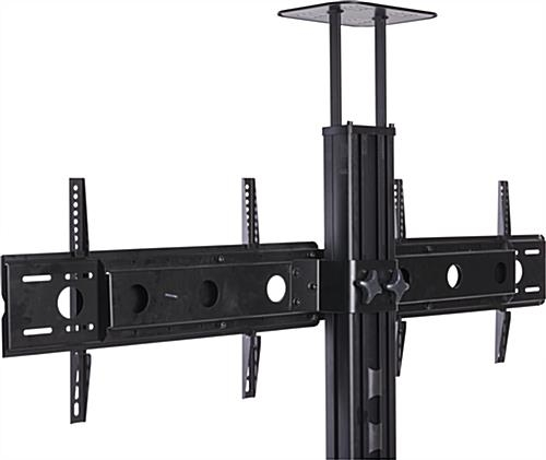 Awesome Deluxe Dual TV Stands Throughout Side Side Dual Tv Stand Adjustable Mount With Camera Av Shelves (Image 6 of 50)