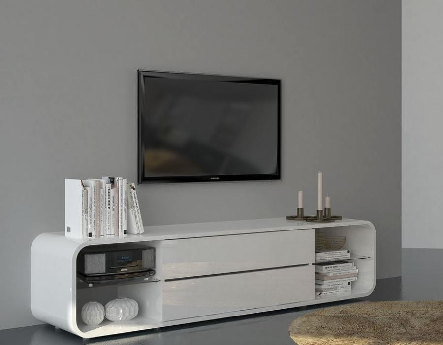 Awesome Deluxe Gloss TV Stands In White Tv Cabinet White Laminate Tv Stand Ikea With Hutch And (Image 8 of 50)