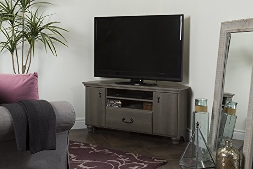 Awesome Deluxe Grey Corner TV Stands Inside Amazon Noble Corner Tv Stand Fits Tvs Up To 55 Wide (Image 6 of 50)