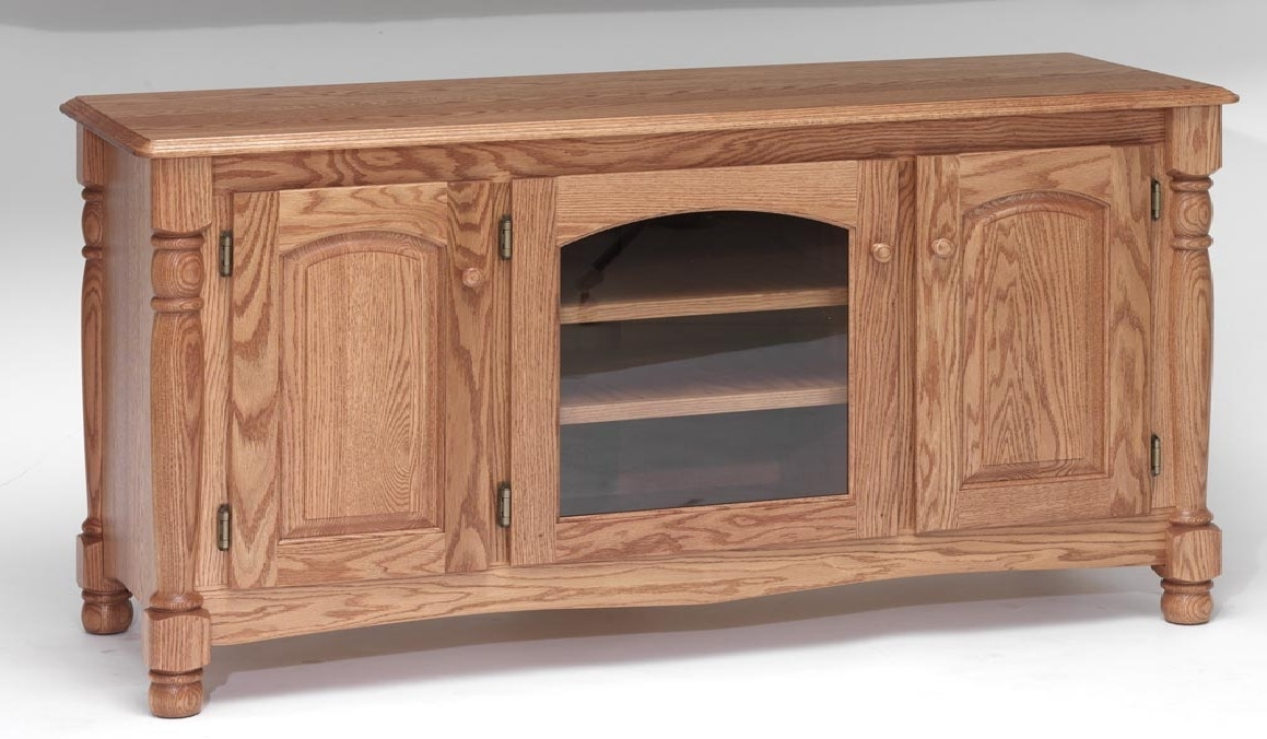 Awesome Deluxe Hardwood TV Stands With Solid Oak Country Trend Tv Stand Wcabinet 58 The Oak (Image 6 of 50)