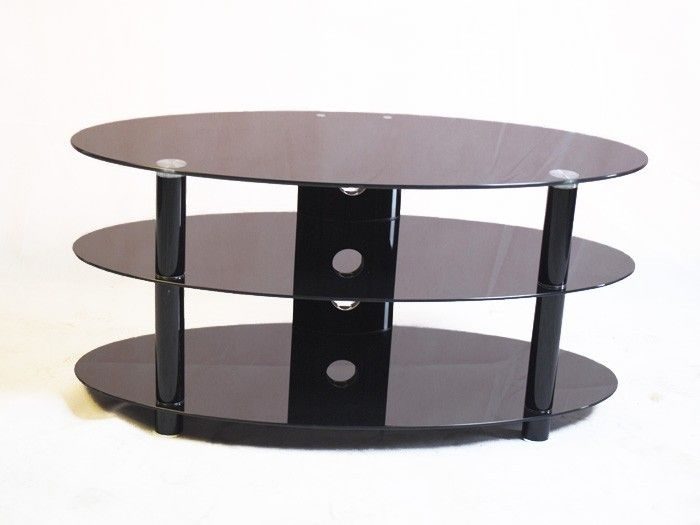 Awesome Deluxe Iconic TV Stands Pertaining To 61 Best Black Glass Tv Stands Images On Pinterest Cable (Image 5 of 50)
