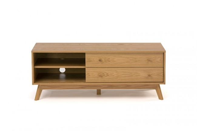 Awesome Deluxe Large Oak TV Stands Intended For Fiord Large Tv Unit In Oak Funiquecouk (Image 4 of 50)