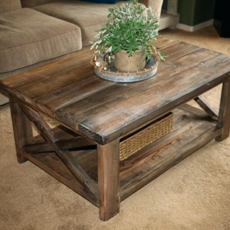 Awesome Deluxe Large Rustic Coffee Tables With Coffee Table And End Table Set Round Tag Coffee Tables And End (View 47 of 50)