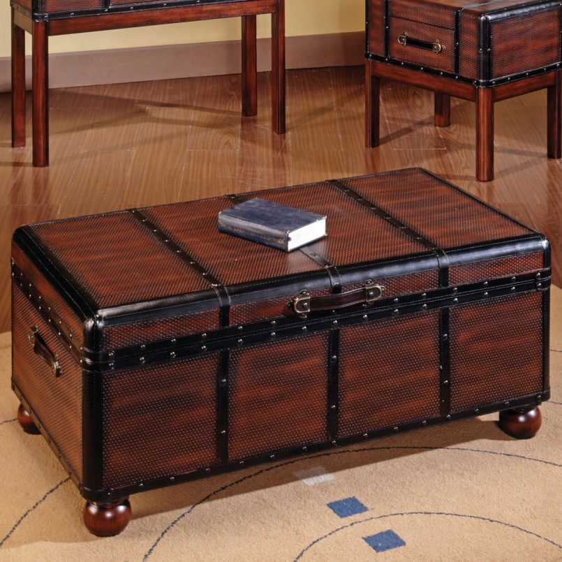 Awesome Deluxe Large Trunk Coffee Tables Within Storage Large Trunk Coffee Table Trunk Chest Coffee Table Chest (Image 7 of 50)