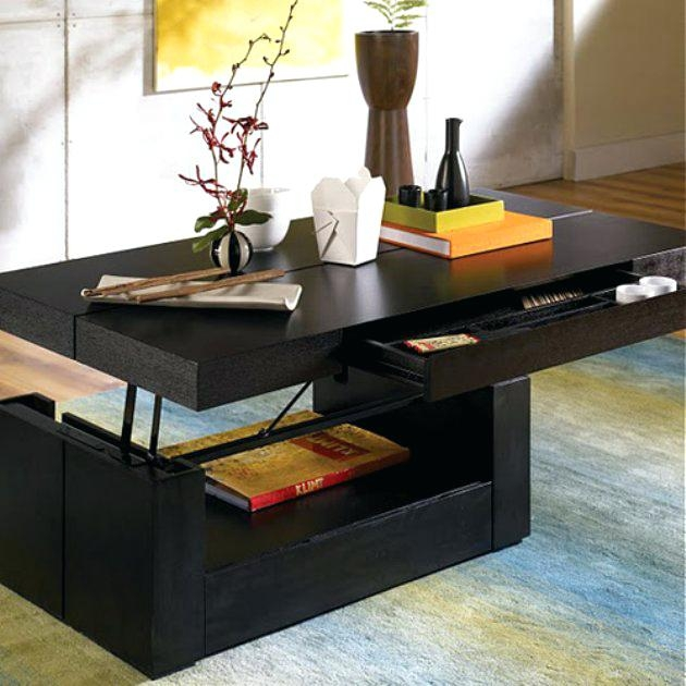 Awesome Deluxe Lift Top Coffee Tables With Storage With New Caspian Espresso Lift Top Coffee Table With Storage Shelf (Image 8 of 50)