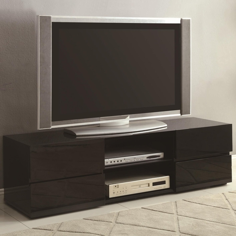 Awesome Deluxe Low Profile Contemporary TV Stands In Black Wood Tv Stand Steal A Sofa Furniture Outlet Los Angeles Ca (Image 7 of 50)