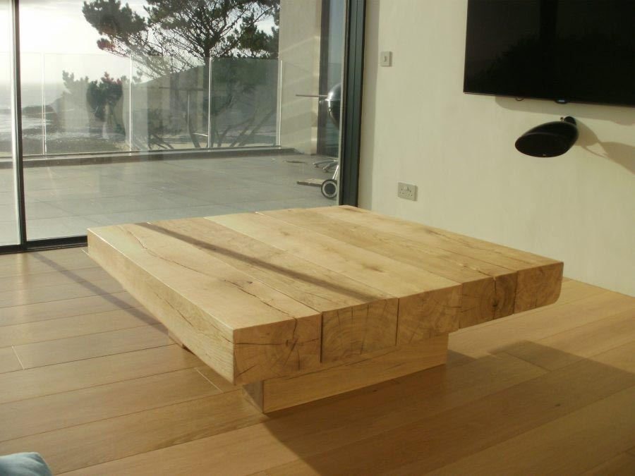 Awesome Deluxe Low Square Wooden Coffee Tables  For Low Coffee Table Low Coffee Table Sculpted Drum Coffee Table (Image 4 of 50)
