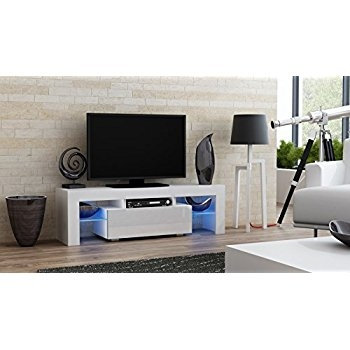 Awesome Deluxe Milano TV Stands For Amazon Tv Stand Milano 130 Modern Led Tv Cabinet Living (Image 6 of 50)
